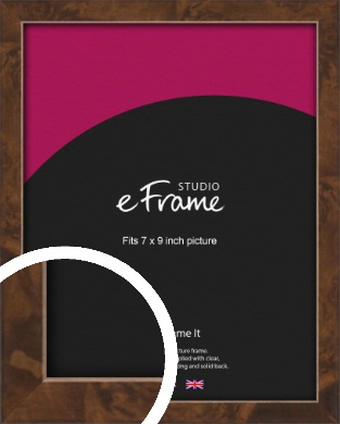 Narrow Mid Burl Brown Picture Frame, 7x9