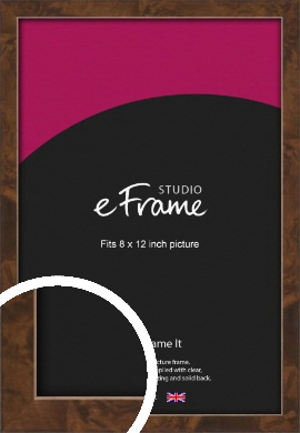 Narrow Mid Burl Brown Picture Frame, 8x12
