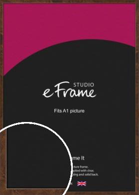 Narrow Mid Burl Brown Picture Frame, A1 (594x841mm) (VRMP-1084-A1)