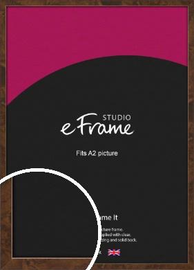 Narrow Mid Burl Brown Picture Frame, A2 (420x594mm) (VRMP-1084-A2)