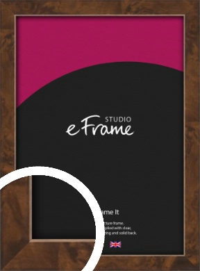 Narrow Mid Burl Brown Picture Frame (VRMP-1084)