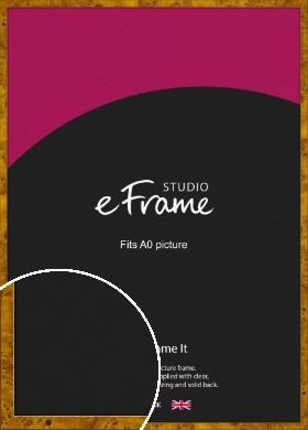 Narrow Coffee Burl Brown Picture Frame, A0 (841x1189mm) (VRMP-1085-A0)