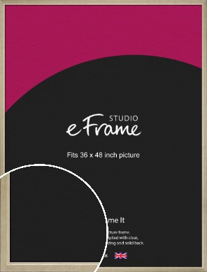 Subtle Gold Picture Frame, 36x48