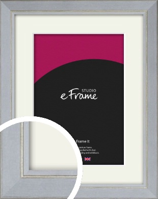 Silver Foil & White Picture Frame & Mount (VRMP-1091-M)