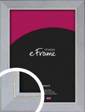 Silver Foil & White Picture Frame (VRMP-1091)