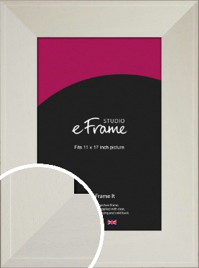 Extra Wide Soft Cream Picture Frame, 11x17