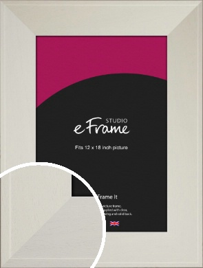 Extra Wide Soft Cream Picture Frame, 12x18