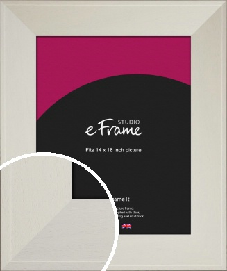 Extra Wide Soft Cream Picture Frame, 14x18