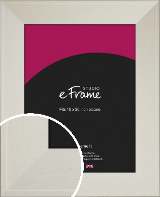 Extra Wide Soft Cream Picture Frame, 15x20