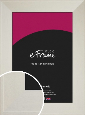 Extra Wide Soft Cream Picture Frame, 16x24