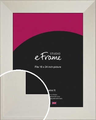 Extra Wide Soft Cream Picture Frame, 18x24