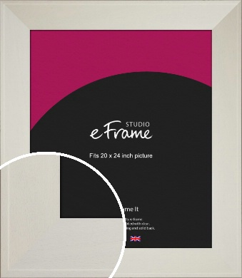 Extra Wide Soft Cream Picture Frame, 20x24