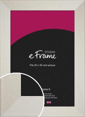 Extra Wide Soft Cream Picture Frame, 20x30