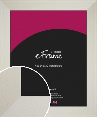 Extra Wide Soft Cream Picture Frame, 24x30