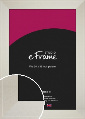Extra Wide Soft Cream Picture Frame, 24x36