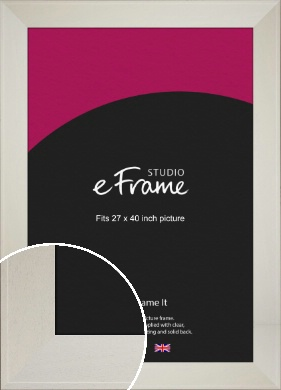 Extra Wide Soft Cream Picture Frame, 27x40