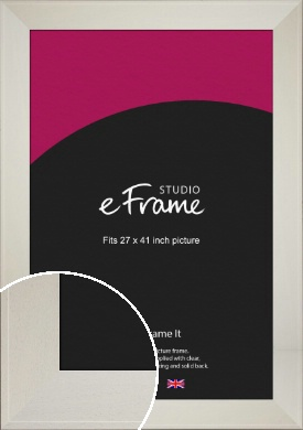 Extra Wide Soft Cream Picture Frame, 27x41