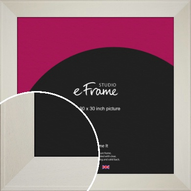 Extra Wide Soft Cream Picture Frame, 30x30
