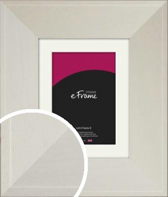 Extra Wide Soft Cream Picture Frame & Mount (VRMP-1096-M)