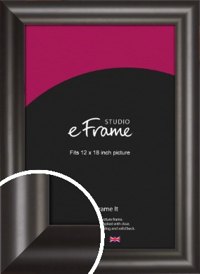 Wide Smooth Curved Black Picture Frame, 12x18