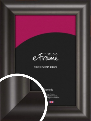 Wide Smooth Curved Black Picture Frame, 8x12