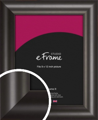 Wide Smooth Curved Black Picture Frame, 9x12