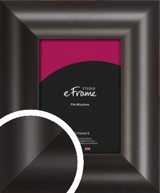 Wide Smooth Curved Black Picture Frame, A6 (105x148mm) (VRMP-240-A6)