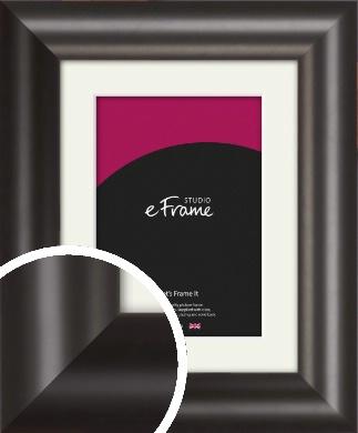 Wide Smooth Curved Black Picture Frame & Mount (VRMP-240-M)