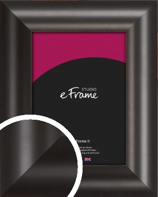 Wide Smooth Curved Black Picture Frame (VRMP-240)