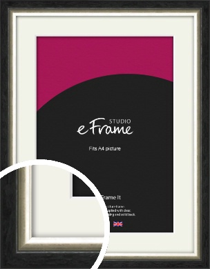 Shabby Champagne Gold & Midnight Black Picture Frame & Mount, A4 (210x297mm) (VRMP-1104-M-A4)