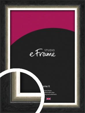 Shabby Champagne Gold & Midnight Black Picture Frame (VRMP-1104)