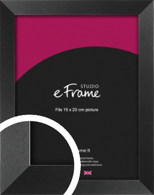 Simple Deep Open Grain Black Picture Frame, 15x20cm (6x8