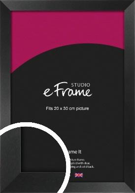 Simple Deep Open Grain Black Picture Frame, 20x30cm (8x12