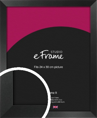 Simple Deep Open Grain Black Picture Frame, 24x30cm (VRMP-233-24x30cm)