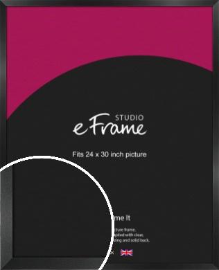 Simple Deep Open Grain Black Picture Frame, 24x30
