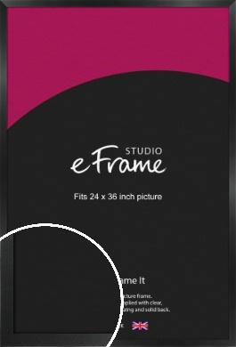 Simple Deep Open Grain Black Picture Frame, 24x36