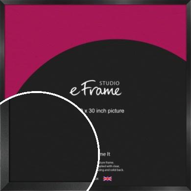 Simple Deep Open Grain Black Picture Frame, 30x30