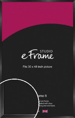 Simple Deep Open Grain Black Picture Frame, 30x48