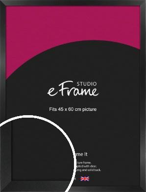 Simple Deep Open Grain Black Picture Frame, 45x60cm (VRMP-233-45x60cm)