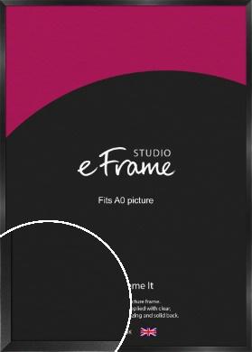 Simple Deep Open Grain Black Picture Frame, A0 (841x1189mm) (VRMP-233-A0)