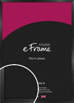 Simple Deep Open Grain Black Picture Frame, A1 (594x841mm) (VRMP-233-A1)