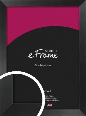 Simple Deep Open Grain Black Picture Frame, A4 (210x297mm) (VRMP-233-A4)