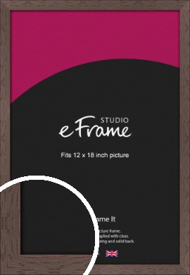 Deep Mahogany Brown Picture Frame, 12x18