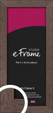 Deep Mahogany Brown Picture Frame, 4x10