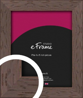 Deep Mahogany Brown Picture Frame, 4x5