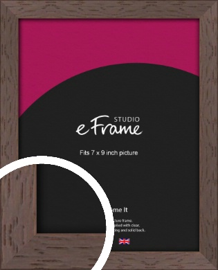 Deep Mahogany Brown Picture Frame, 7x9