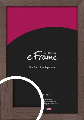 Deep Mahogany Brown Picture Frame, 8x12