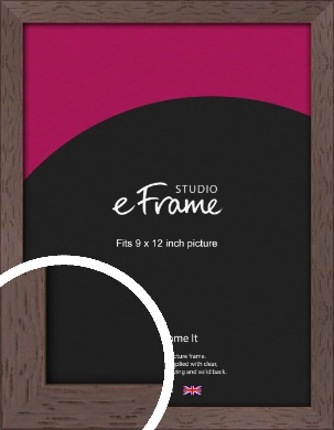 Deep Mahogany Brown Picture Frame, 9x12