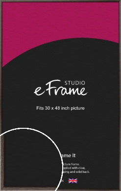 Muted Black Picture Frame, 30x48
