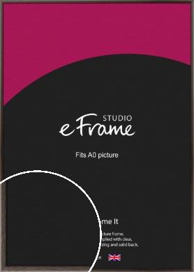 Muted Black Picture Frame, A0 (841x1189mm) (VRMP-339-A0)